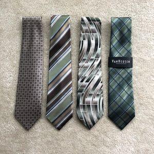 Bundle of 4 Ties (100% Silk)